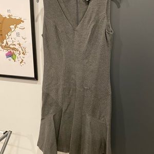 DVF Grey fit and flare work dress